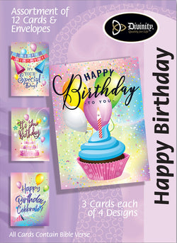 Divinity Boutique Boxed Cards: Happy Birthday-Party Colors