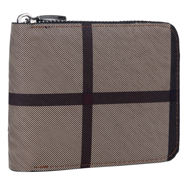 Tan Maverick Plaid Wallet