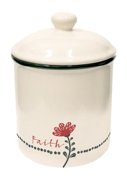 Divinity Boutique Scribbles Kitchen: Canister - Faith