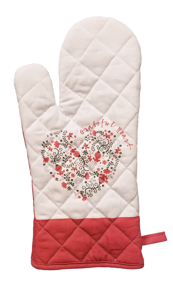 Divinity Boutique Scribbles Kitchen: Grateful Heart Oven Mitt