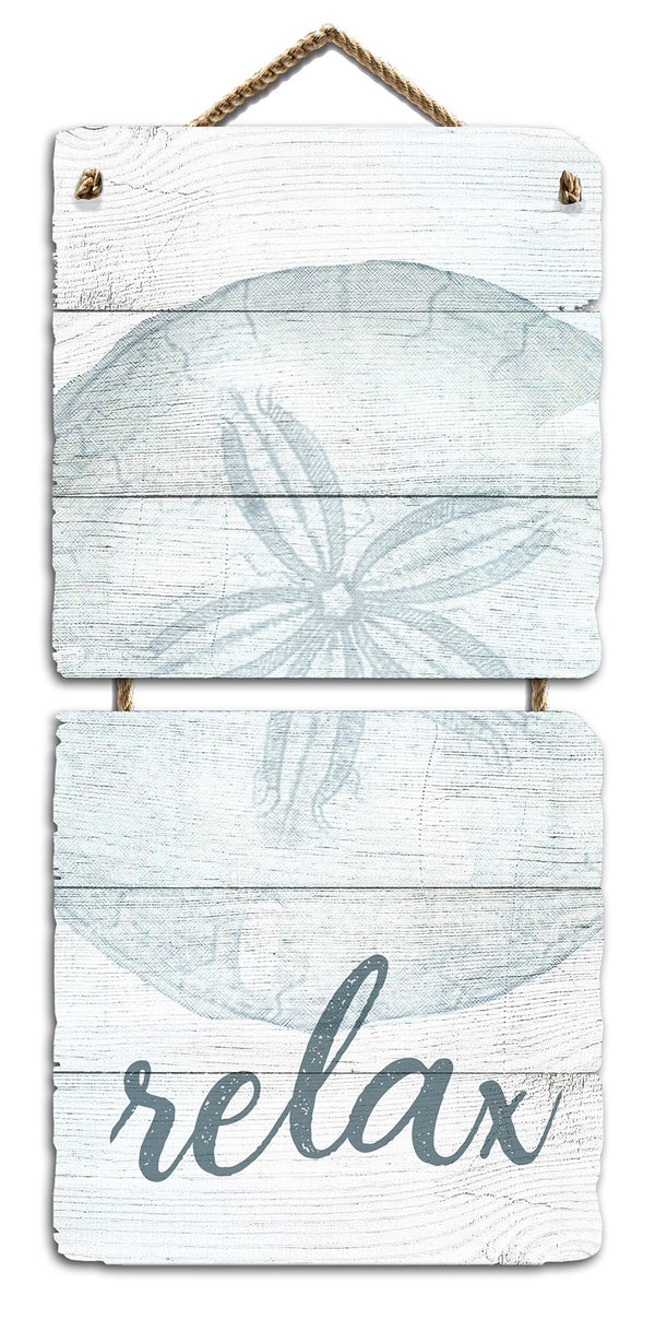 Oak Patch Gifts Sand-Dollar Relax Wall Art