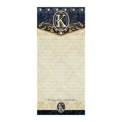 Oak Patch Gifts Monogram K: Jeweled Hard Top Listpad