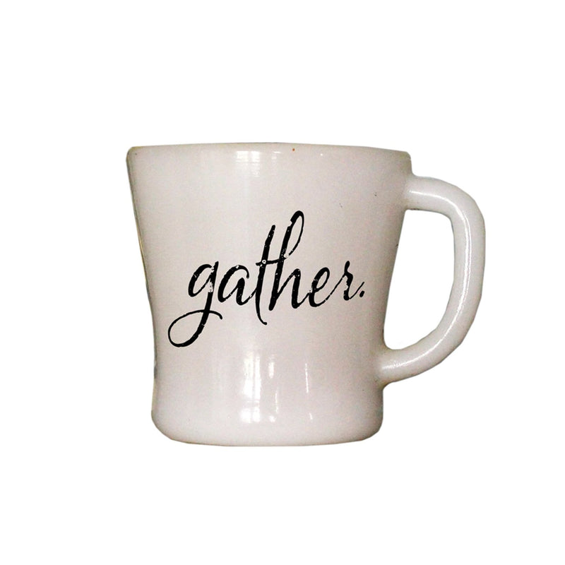Oak Patch Gifts Vintage Kitchen: Gather Word Mug