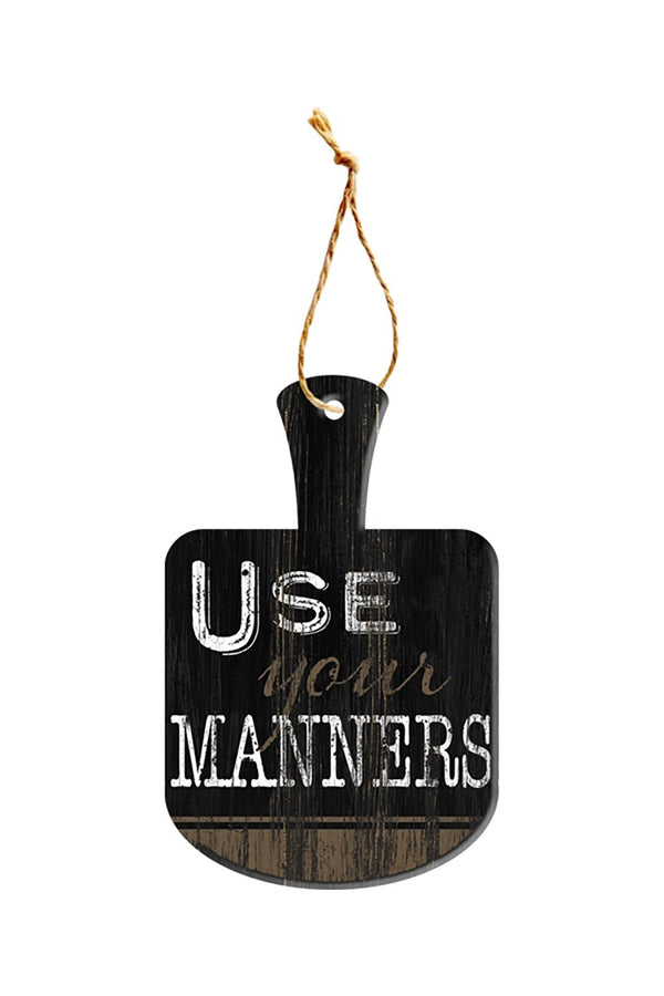 Oak Patch Gifts Vintage Kitchen: Manners Cutting Board Sign
