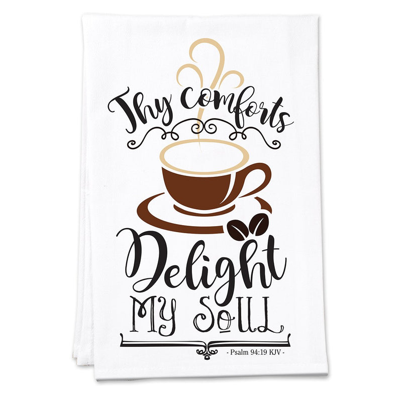 Divinity Boutique Thy Coffee Comforts Tea Towel