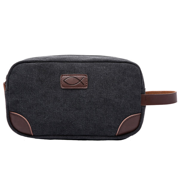 Divinity Boutique Man of God: Black Canvas & Leather Dopp