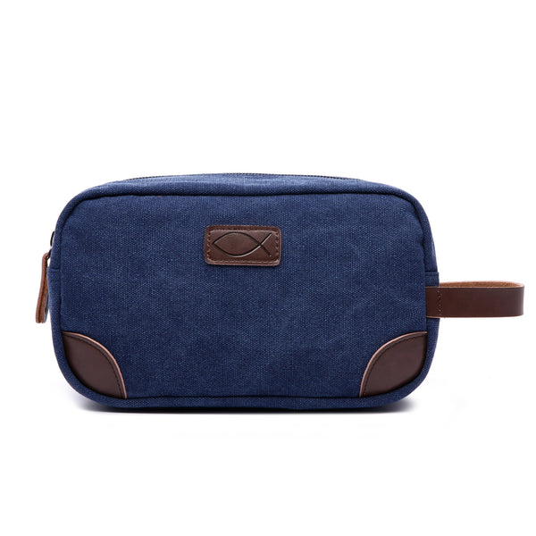 Divinity Boutique Man of God: Navy Canvas & Leather Dopp
