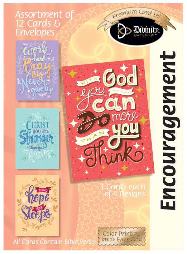 Divinity Boutique Boxed Cards: Encouragement Trendy Wording