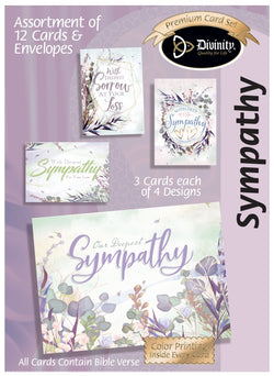 Divinity Boutique Boxed Cards: Sympathy Trendy Watercolor Grass