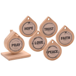 Divinity Boutique Wooden Coaster 6 pc set-Grungy Circles