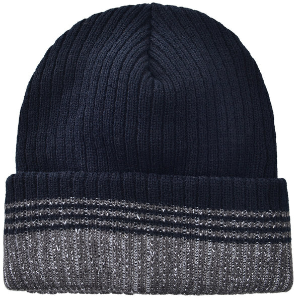 Stripped Toboggan Black by Mad Style Wholesale