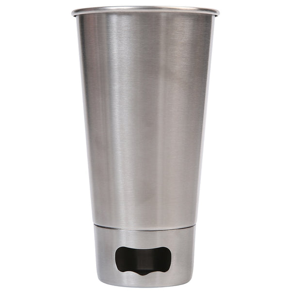 Mad Man Brew Cup w/ Opener-Silver