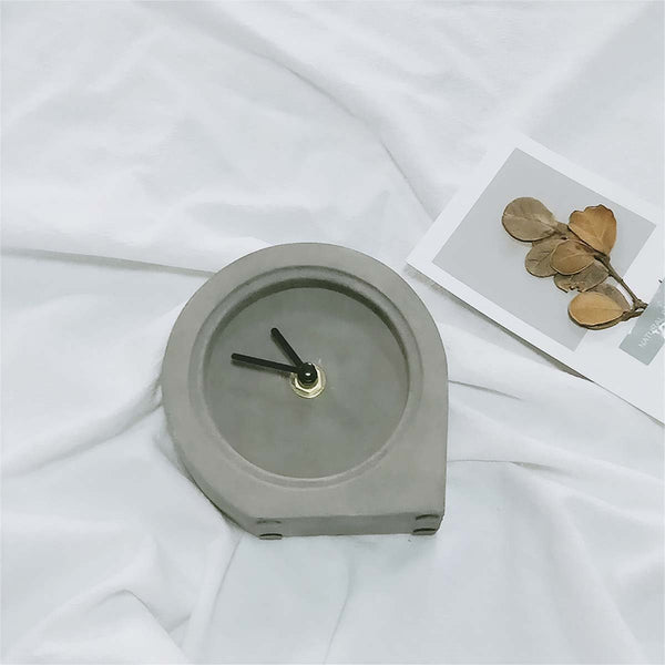 Men's Concrete Desk Clock - Nicole Brayden Gifts