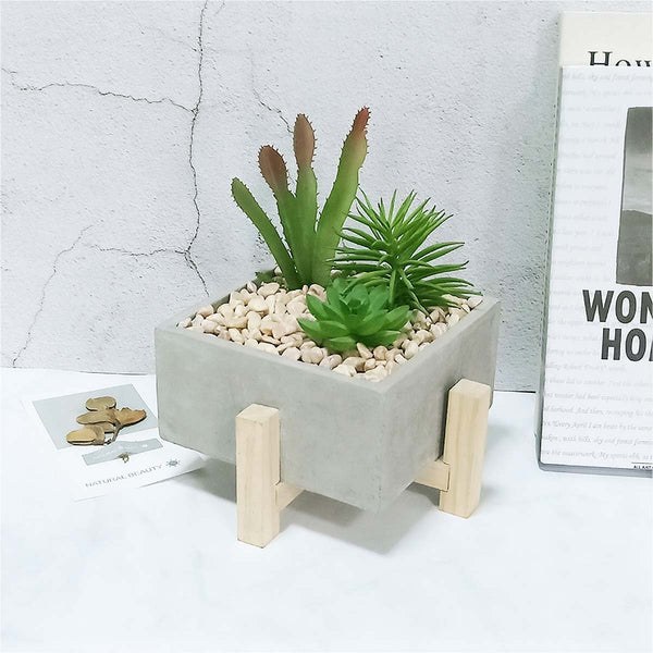 Men's Concrete Desk Planter - Nicole Brayden Gifts