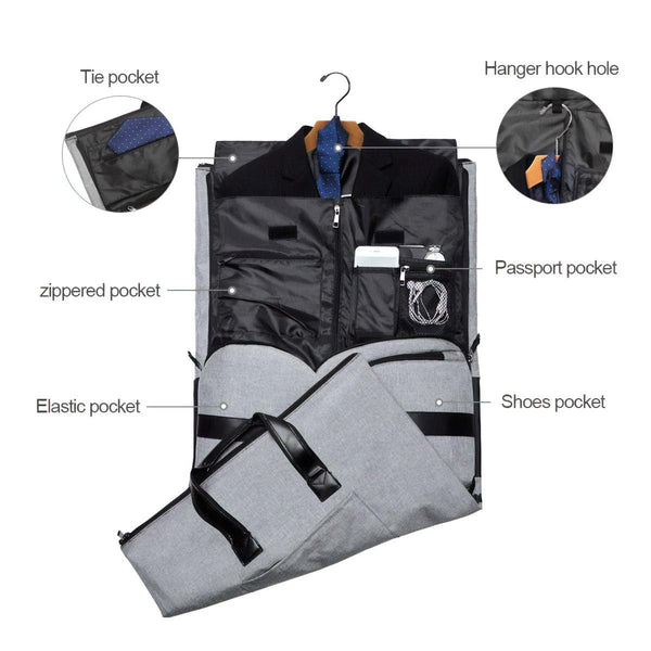 Men's Convertible Garment Duffel Bag - Nicole Brayden Gifts