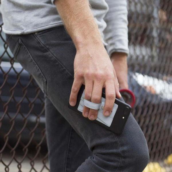Men's Wide Band Phone Wallet Grip and Stand - Nicole Brayden Gifts