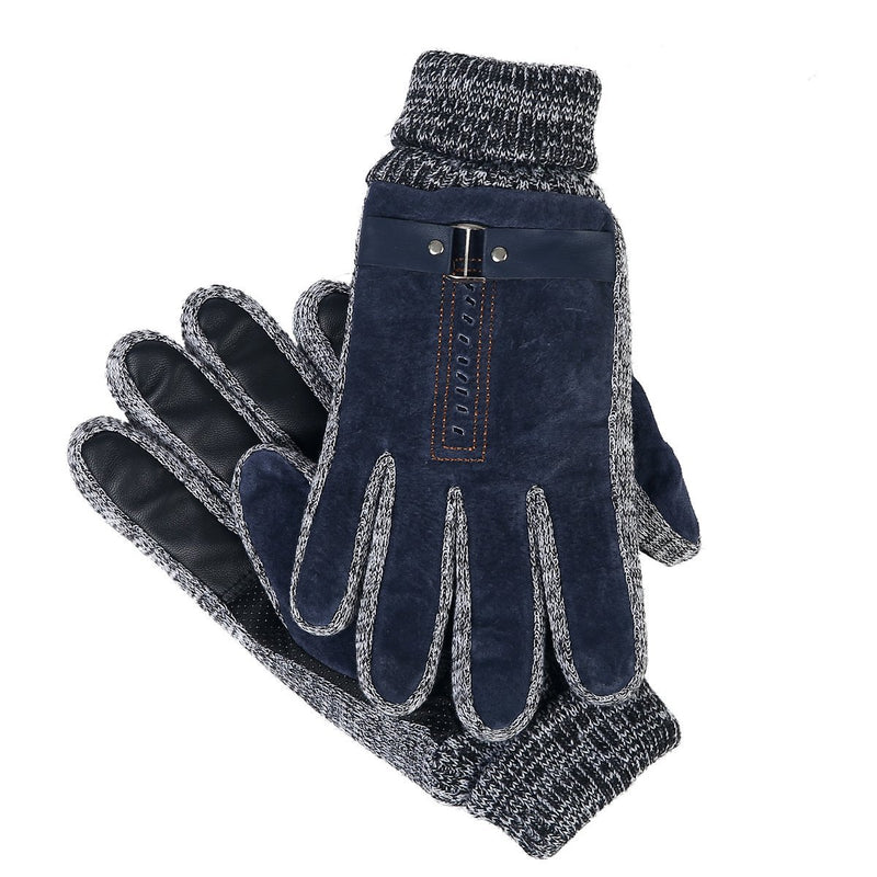 Suede Oscar Gloves Blue by Mad Style Wholesale