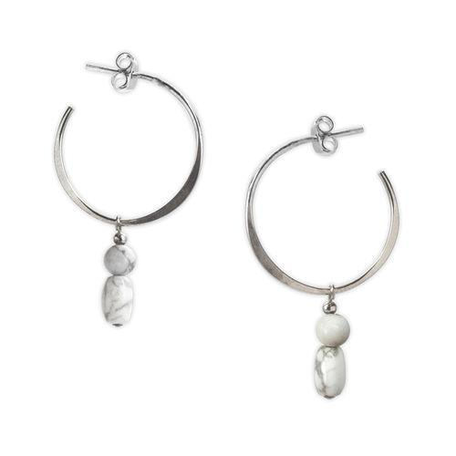 Jody Coyote Pebble Creek Circle Earring