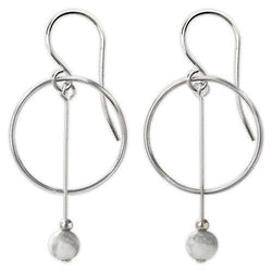 Jody Coyote Pebble Creek Circle Drop Earring