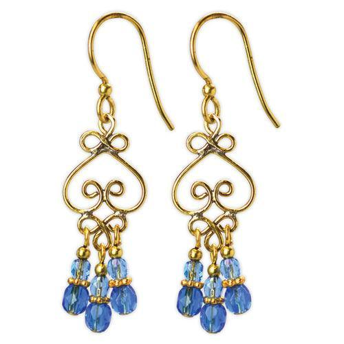 Jody Coyote Dreamer Scroll Blue Earring