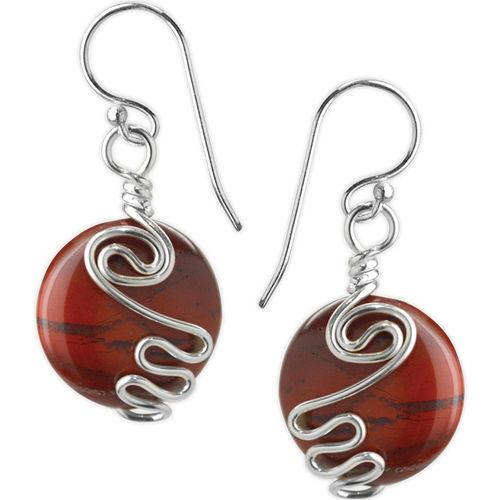 Jody Coyote Jam Session Dark Wine Circle Earring