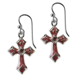 Jody Coyote Inspired Aged Wine Epoxy with Light Amethyst Crystal Earring Earring
