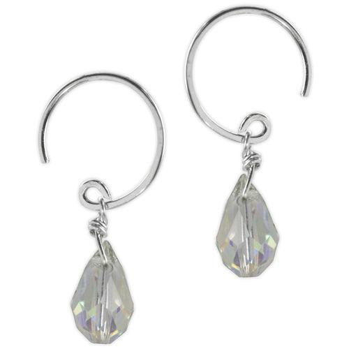 Jody Coyote Sonata Small Light Green Faceted Bead Drop Earring Earring