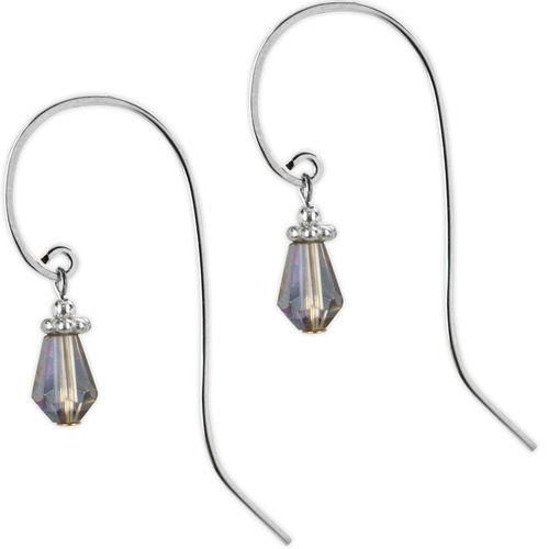 Jody Coyote Sonata Blue Faceted Bead with Long Hook Earring Earring