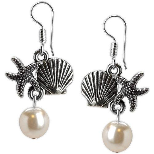 Jody Coyote Beachcomber Starfish Scallop Pearl Earring