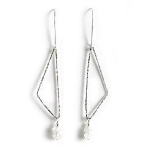 Jody Coyote Contempo Triangle Square with Moonstone Rondelle Earring