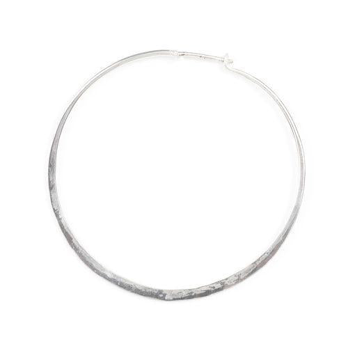 "Jody Coyote Throwback Hammered Hoop - Medium 1.5"" Earring"
