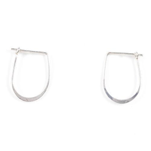 "Jody Coyote Throwback ""U"" Shaped Hoop - Small 0.75"" Earring"