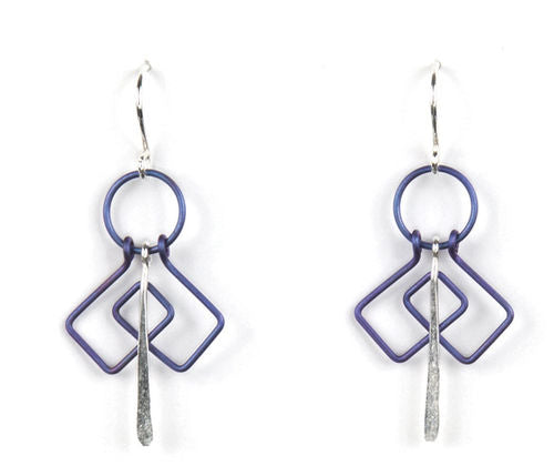 Jody USA Free Form Blue/Purple Earring