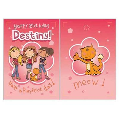 Singing Card- Destiny