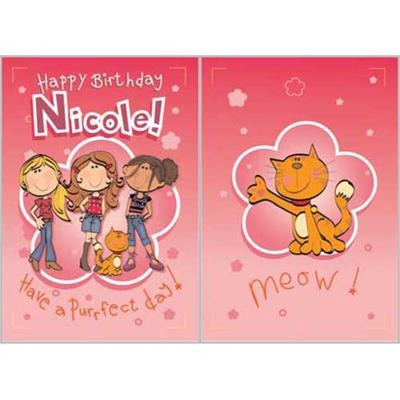 Singing Card- Nicole
