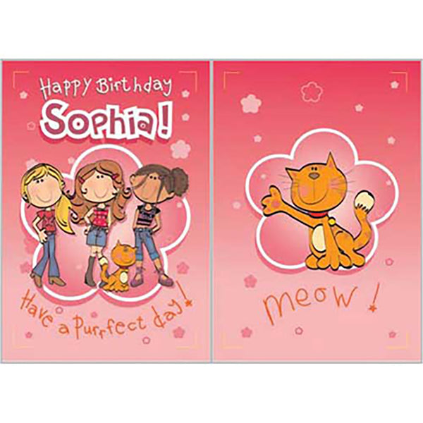 Singing Card- Sophia