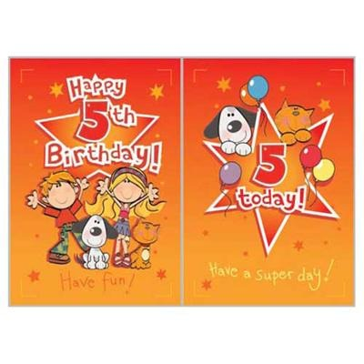 Singing Card- Happy 5th Birthday