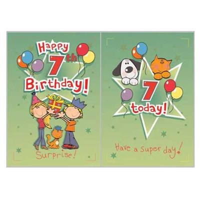 Singing Card- Happy 7th Birthday
