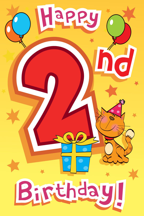 Singing Card- Happy 2nd Birthday