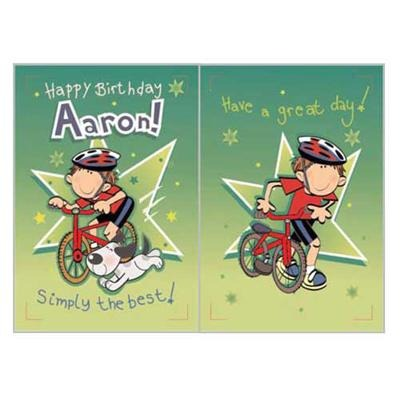 Singing Card- Aaron