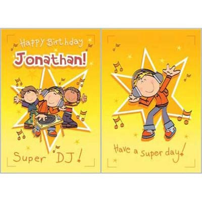 Singing Card- Jonathan