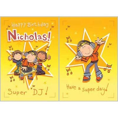 Singing Card- Nicholas