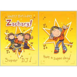 Singing Card- Zachary