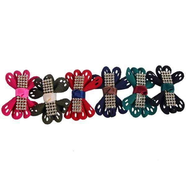 Diamante Hair Bow Clips 12 Piece,Hats and Hair,Mad Style, by Mad Style