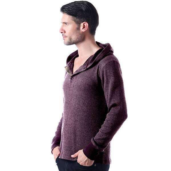 Mad Hooded Henley Shirt,,Mad Style, by Mad Style