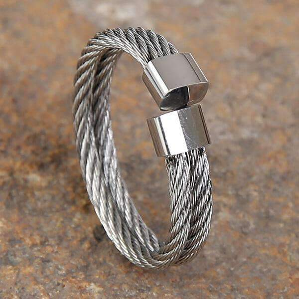 Mad Man Keaton Stainless Ring,Jewelry,Mad Man, by Mad Style