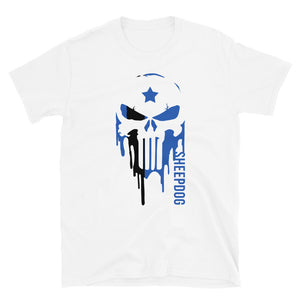Punisher Thin Blue Police Officer  T-Shirt