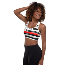 Load image into Gallery viewer, Thin Red line Firefighter Sports Bra