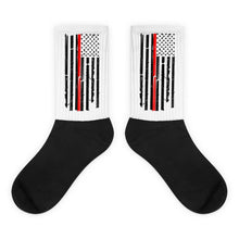 Load image into Gallery viewer, Thin red line firefighter socks