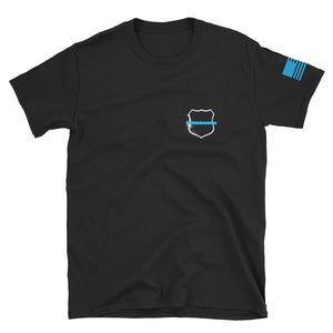 Honoring the Blue Police shirt - Heavy Smoke Apparel Firefighter Police shirt